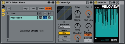 ableton how to change velocity